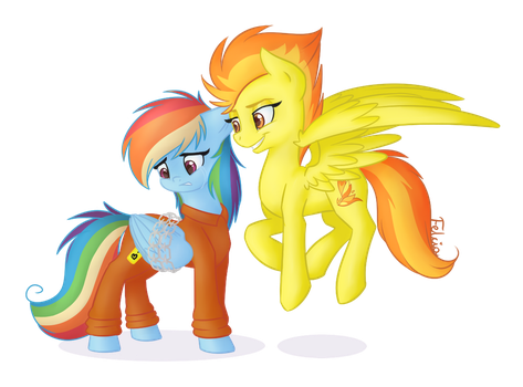 .: What's that, Dashie? :. by Felcia