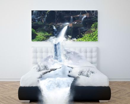 icy bed waterfall by Mrlightning