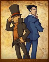 Layton vs. Wright by zillabean