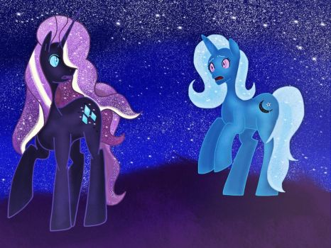 .: Trixie vs Nightmare Rarity: After match :. by ASinglePetal