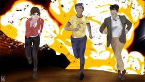 Zoey x Ellis x The Doctor by jackcrowder