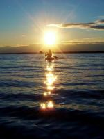 Kayak into the sunset by Photolover68