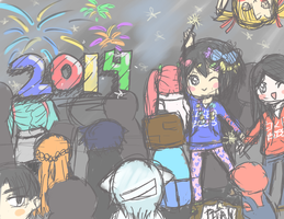 New Year's Sketch by XieChea