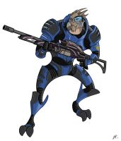 Garrus, ME2 by The-Banderlog