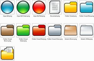 folder icons colores by femfoyou
