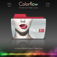 Colorflow TV Folder Icons: True Blood by Crazyfool16