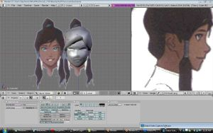 Korra in the making again by SachiShirakawa