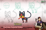 Litten - Mink's Tutorials (YouTube) by Minks-Art