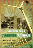 Greener Campus poster by 1isabel