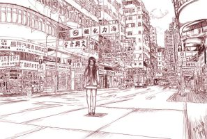 The Streets of Hongkong ~ by Overrated-Reality