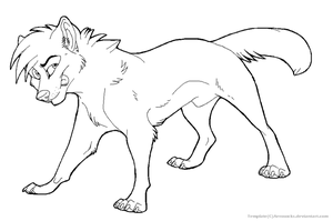 Free Male Wolf Template by AeroSocks