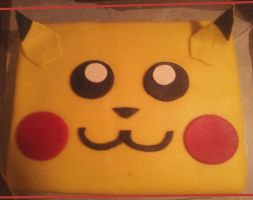 Pikachu Cake by Bloody-Idea