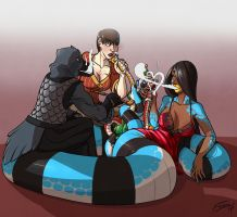 Smoking Party by FicusArt