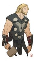 Thor doodle by AndrewKwan