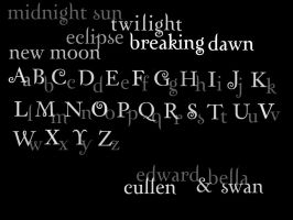 Twilight Font Brushes by laceface1011