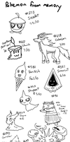 Pokemon from memory challenge round 2 by Miss-Arcadia