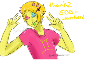 Thanks for 500 Watchers by Brixyfire