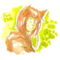 Canis watercolor by Lapis-Razuri