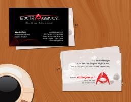 Business Card Extragency by shark-graphic