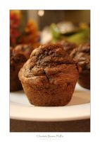 Chocolate Banana Muffins by PhotoFreak111