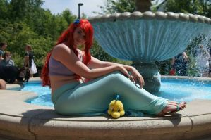 Ariel: Relaxing by the fountain by SabinaRose5