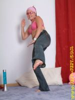 Karate kicks with bare feet! by feet-feetdotcom