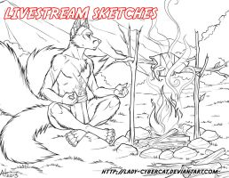 2 November Livestream Sketch Commissions 5 by lady-cybercat