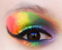 Eye Makeup - Rainbow by adigity