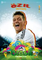OZIL WORLD CUP 2014 POSTER by asendos