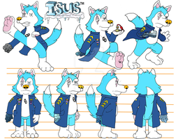 Isus Model Sheet by Blackn-Yellow