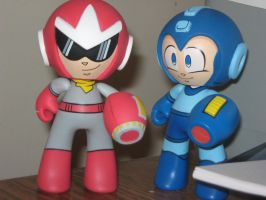 Proto Man and Mega Man Juvi by Reploid-Man