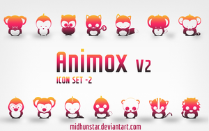 Animox v2 Icons by midhunstar