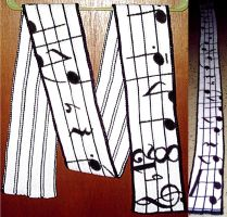 Music Staff Scarf by gabiemiller