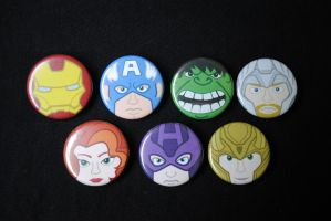 Avengers Button Set by pookat