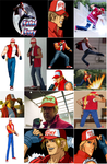 Terry Bogard Cosplay Collage by IronCobraAM