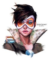 Tracer Sketch by BoraDraws