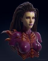 Sarah Kerrigan (Fan art) by cheremisin3d