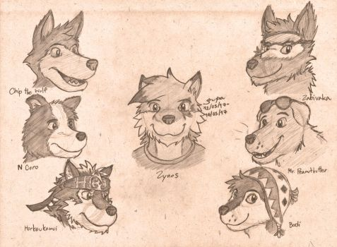 Handsome Canines by gupa507