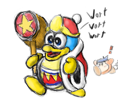 King Dedede! sketch by manfartwish