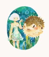 Puffer fish by hebi-mamecafe
