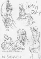 Sketch Dump Commissions 2 by SaidyWolf