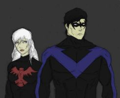 Request: Nightwing and Nightingale by ArmandDj