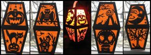 Paper Halloween Lantern by Evergreen-Willow