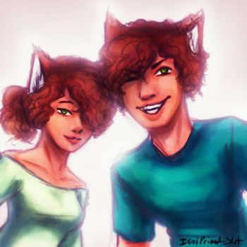 OCs : Kit and Kat by Prizza-Slvt