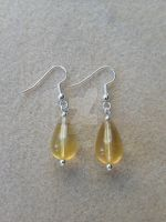 Fluorite Drop Earring - Yellow by WhiteMagicPriestess