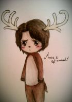 Sam the moose-man by mell1you0
