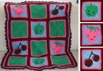 Cute Fruits Blanket by Brookette