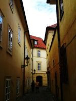 Narrow streets of Prague by Penzone