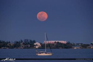 Jensen-Beach-Moon-Rise-at-Indian-Riverside-Park-Sa by CaptainKimo