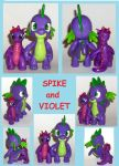 Spike Custom G4 and  Violet OC dragon sculpture by MadPonyScientist